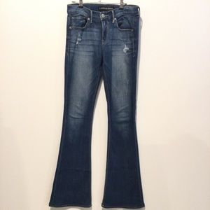 EXPRESS Slim Flare Mid Rise Jeans Size 4 Long